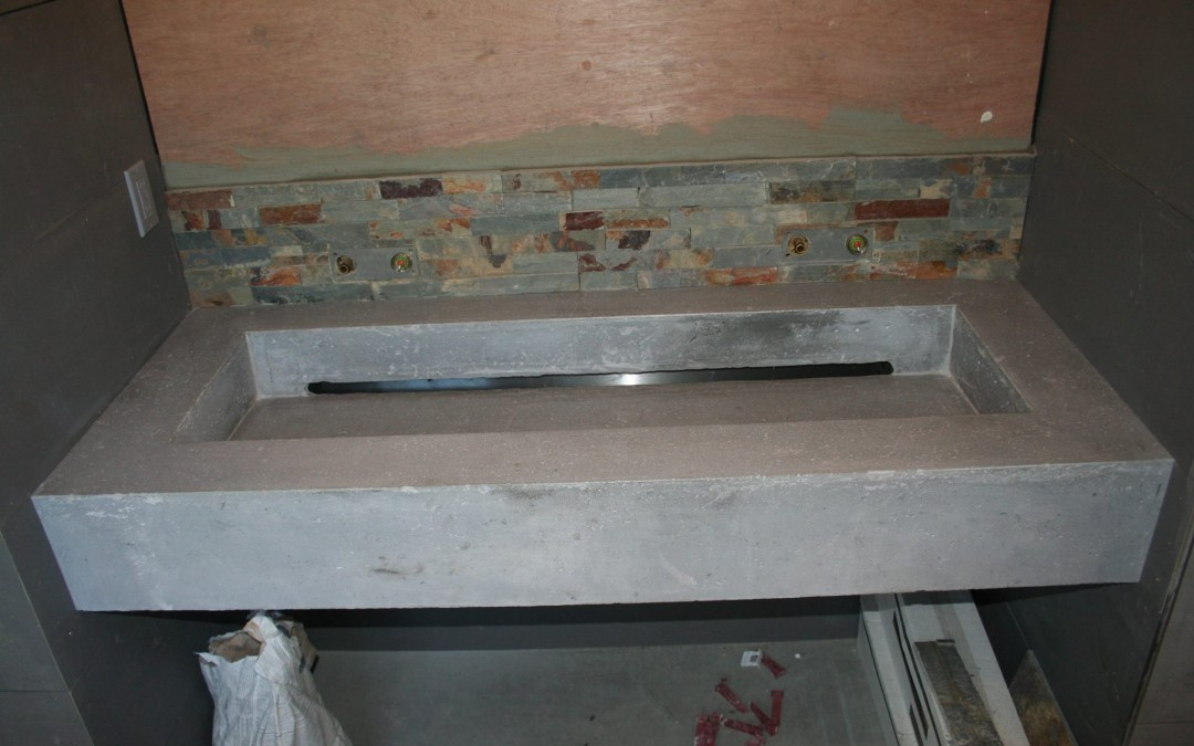 Concrete counter and sinks 2015