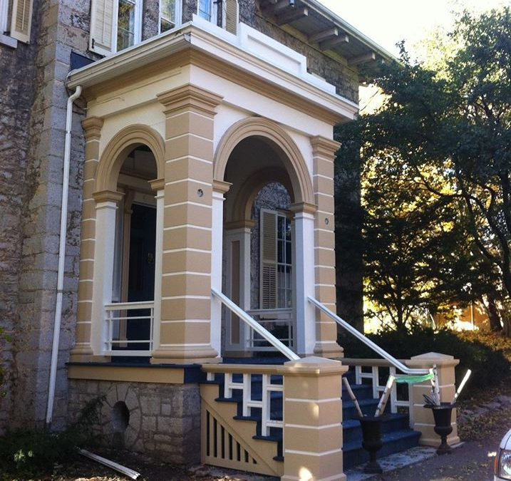 Restoration of 3 old porches